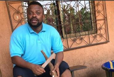 Comic Actor, Ime Bishop Breaks Internet with his Cassava Skills