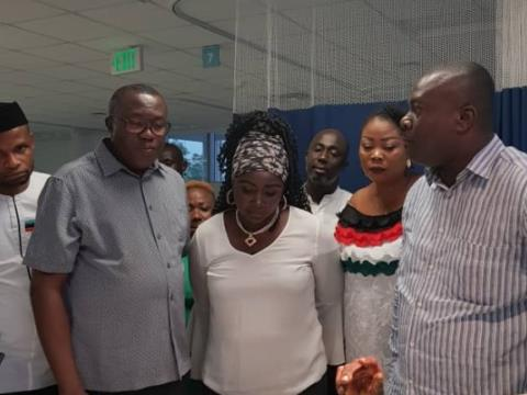NDC Executives Visit Accident Victims