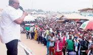John Mahama on a campaign trail in the Western Region