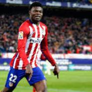 CL: Thomas Partey Stars As Right Back As Atletico Madrid Edge AS Roma At Home