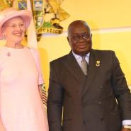 Her Majesty, Queen Magareth 11 with President Nana Addo