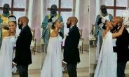 Singer, Banky W Shares Passionate Kiss with Wife as they Hold Their White Wedding