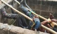 Two Masons Who Were Tired In Manhole For Stealing Iron Rods Rescued