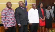 (From Left to right) Vice President Dr. Mahamudu Bawumia, Martin Amidu, President Akufo-Addo, Gloria Akuffo etc