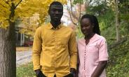 Scientists Dennis Baffuor Awuah and Abigail Akoto