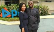 Singer, Benita Okojie Steps out with Hubby After Baby delivery