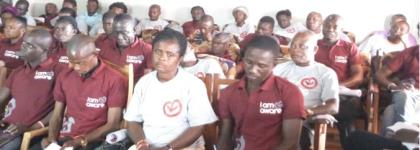 A Cross-Section Of Participants At An IAA Meeting In Wamfie,Dormaa East District