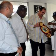Silver Star Pledges Support For Boxing As Dogboe Visits Company