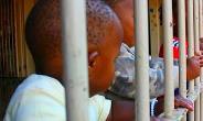 Little children behind bars