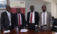 From left to right: Mr. Frank Agyekum ( the Executive Director for Ghana International Trade Commission), Justice Samuel Kofi Date-Bah (Retired Justice of the Supreme Court of Ghana, and the Board Chair of CUTS Ghana), Appiah Kusi Adomako (Centre Coordinator, CUTS Ghana) and Isaac Yaw Obeng (Research Associates, CUTS GShana)