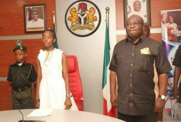 Joy Ezechikamnayo Awarded Scholarship & N500k As Abia One-Day Governor