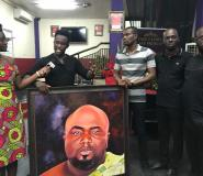 Photos: Talented Artist Presents KABA Painting To Multimedia