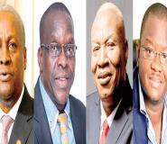 From left: John Mahama, Alban Bagbin, Joshua Alabi, Sylvester Mensah