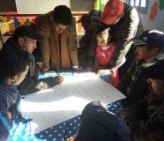 Planning local projects in the Rhamna province of Morocco, with youths' facilitation.