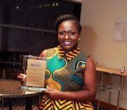 Mrs. Dentaa Amoateng with Community Development Award