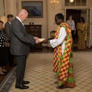 High Commisioner Adjei Presents Credentials To The Governor General Of Austr