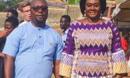 Hon Barbara Oteng-Gyasi  in a pose with the Workaholic MCE Hon. Mozart K Owuh of Prestea Huni-Valley Municipality.