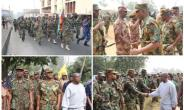 Military/Security Services embark on joint route march