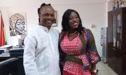 Daddy Lumba in a pose with Catherine Afeku