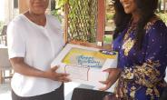 MTN presents birthday cake to Jackie Appiah (Video)