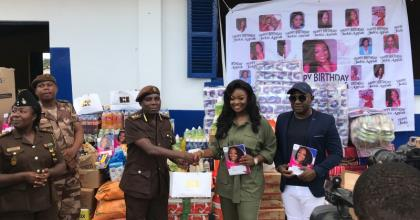 Jackie Appiah Donates To Borstal Institute On Birthday