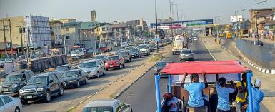 Berger Road in Lagos, Nigeria. ''violations of traffic law are so rampant in Nigeria that nobody cares anymore.''