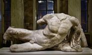The Parthenon Sculpture of the river god Ilissios that the British Museum sent on a controversial loan to the Hermitage Museum in St. Petersburg, Russia.
