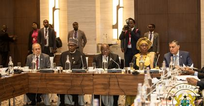 President Akufo-Addo addressing the COMSATS meeting