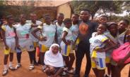 Tema Community 2 number 4 primary school pupils and their trainer from Denkyem foundation.