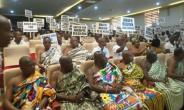 Ahafo Chiefs at commission of enquiry hearing, Sunyani