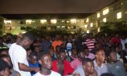 Hundreds Troop In To Watch Valentine's Day Soccer Event At Legon