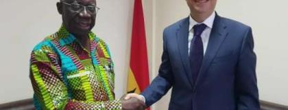 Egyptian Ambassador Visits Yaw Osafo Maafo