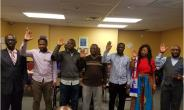 L-R: Dr. Achampong, Saeed, Antwi, Ali, Ibrahim, Asantewaa, & Muftahu taking Oaths