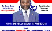 Captain Billy Bids to Manage NPP-USA Finances as USA National Treasurer