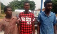 The three suspected armed robbers
