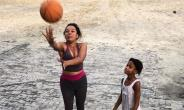 Nollywood Actress, Ibinabo Fiberesima goes Basketballing with Daughter