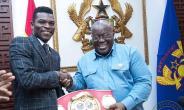 President Akufo-Addo with IBF World champion Richard Commey