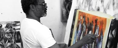Wiz Kudowor, Popular Painter, Holds Art Exhibition