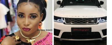 Actress, Lizzy Anjorin gets New range Rover Evoque from 'Sugar daddy'
