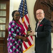U.S. Embassy Honors Mensah-Kutin, Debra with MLK Awards