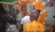 Kwabena Boateng, Divisional Directorwith Nana Adu Mensah, Amakomhene and Rita Dickson, Pro-VC officially opening the digital branch