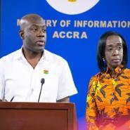 Information Minister, Kojo Oppong Nkrumah with FDA boss Delese Darko