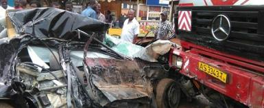 A road accident in Ghana- photo credit: Ghana media