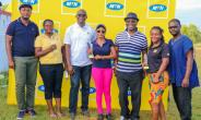 The Winners in a pose with MTN officials
