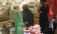 Woman Sells Food In Awudome Cemetery