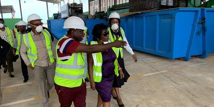 Sanitation Minister Abena Dapaah Impressed With JOSPONG's Hi-Tech Recycling Plant