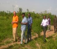 Mr. Hedahe Cameron Canada High commissioner and Ayikoi Otoo Ghana Ambassador to Canada and investors touring the land at Dawadaw NO. 2