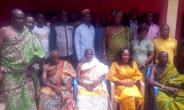 DCE with Nananom and the Area Council Members