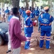 The students and staff of Zoomlion embarking on the exercise