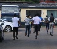 Hot Photo: The Race To Get A Piece Of Kwesi Nyantakyi